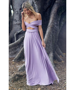 Light Purple Sexy Women Convertible Wrap Maxi Dress - $39.95+