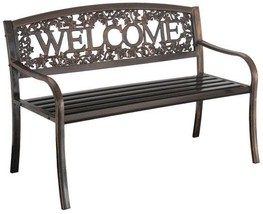 Metal Friendly Welcome Bench Reinforced Seat Panel Elegant Designed Resi... - $205.12