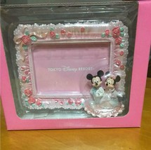 Tokyo Disney Resort Mickey & Minnie Mouse Bridal Photo Frame Stand TDL - $55.44