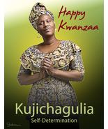 Kujichagulia (Self-Determination): Unique Holiday Kwanzaa Card - $3.25