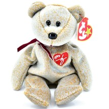 1999 TY Beanie Baby Signature Bear Embroidered Heart Beanbag Plush Toy Doll