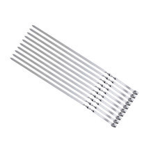 10pcs Stainless Steel Metal Barbeque Skewer Needle BBQ Kebab Stick Utens... - £20.07 GBP