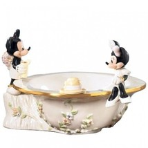 "LENOX DISNEY MICKEY MINNIE AFTERNOON PICNIC BOWL, NIB 9"" - $128.69"