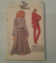 Vogue Patterns 7229 Very Easy Top Tunic Skirt Pants 1980's Size A (6-8) ... - $9.49