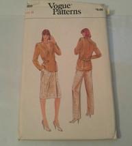 Vogue Patterns 7922 Misses Jacket Pants Skirt Size 8 Uncut - $8.59