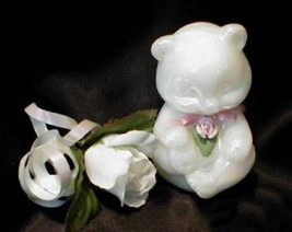 3598 Fenton Pearly Sentiments Sitting Bear - $29.50