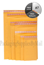 "100 #7 14.25""x20"" BROWN KRAFT BUBBLE MAILERS PA... - $48.96"