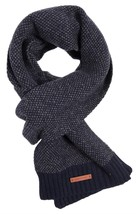 Bickley + Mitchell Men's Knit Scarf Navy 51156 02 - £43.03 GBP