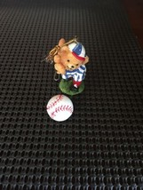 Baseball Bear Christmas Tree Ornament Euc - $6.00