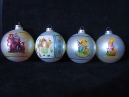 Set of 4 Schmid Christmas Tree Ornaments ( 1981,1983,1985 & 1990 - $29.99