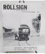 Rollsign Boston Transit Magazine  1973 - $34.65