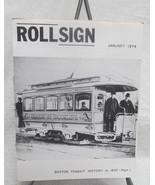 Rollsign Boston Transit Magazine 1974 - $49.50