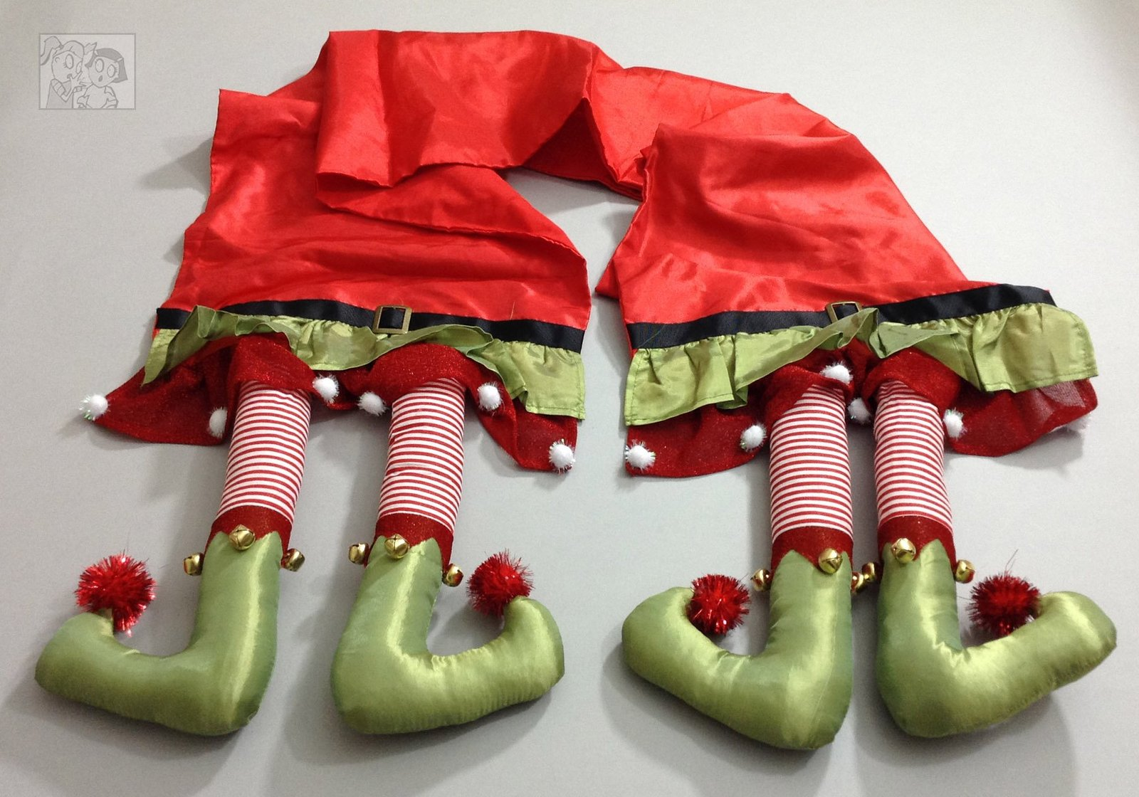 Christmas Elf Legs Table Runner 14x80 inches