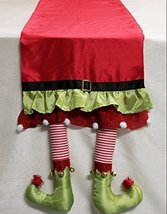 Christmas Elf Legs Table Runner 14x80 inches image 3