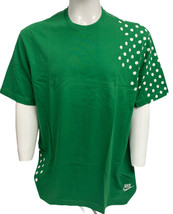 Vintage Nike Men's White T-shirt with Green white  Dots short sleeve - $43.56+