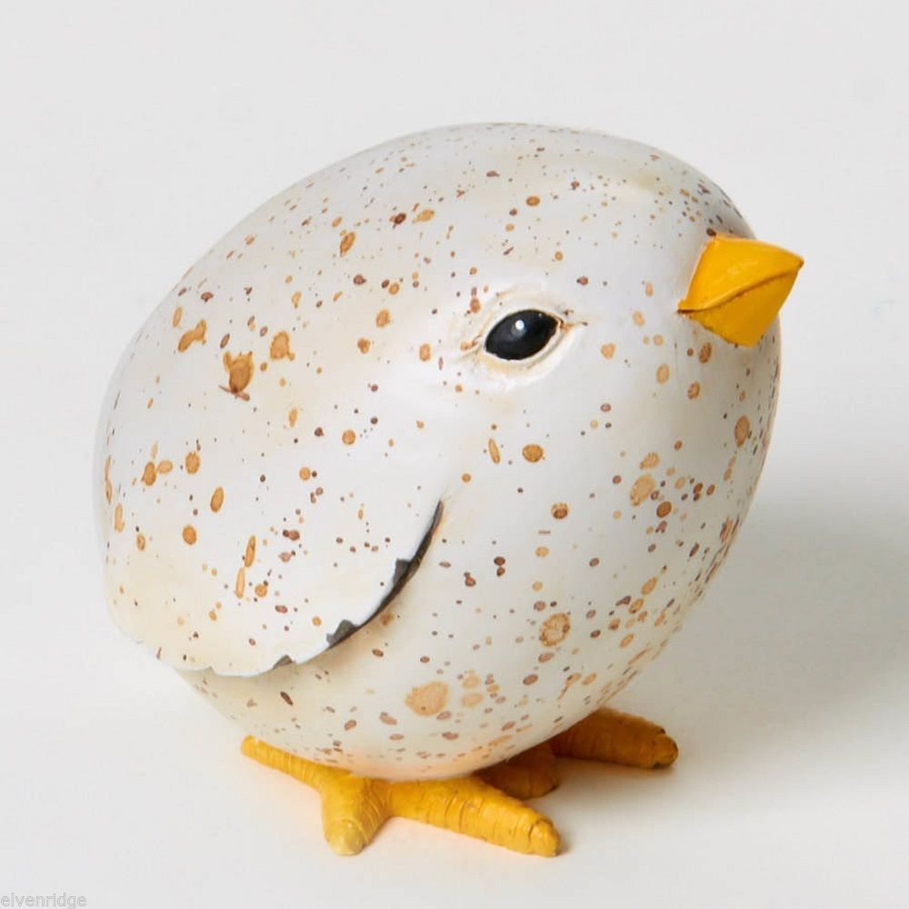 Speckled Egg Chick Homegrown  Play w your Food Sculpted Figurine