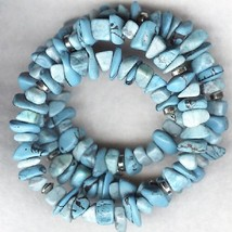 Blue Howlite Gemstone Chip Bracelet 8 - $7.91