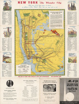 1939 Rapid Transit Map of Greater New York Vintage Wall Art Poster Print... - $16.34+