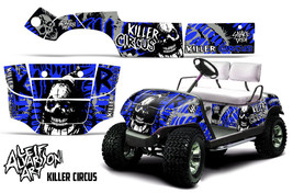 AMR Racing Yamaha Golf Cart Graphic Kit Wrap Parts Decal 1995-2006 CIRCUS BLUE - $299.95
