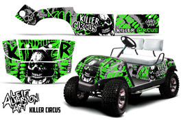 AMR Racing Yamaha Golf Cart Graphic Kit Wrap Parts Decal 1995-2006 CIRCUS GREEN - $299.95