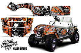 AMR Racing Yamaha Golf Cart Graphic Kit Wrap Parts Decal 1995-2006 CIRCUS ORANGE - $299.95