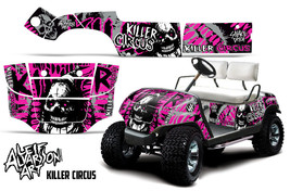 AMR Racing Yamaha Golf Cart Graphic Kit Wrap Parts Decal 1995-2006 CIRCUS PINK - $299.95