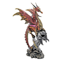 Dragon Wing Skull Statue Mythical Creature Medieval Gothic Decor Theme A... - €32,64 EUR