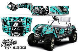 AMR Racing Yamaha Golf Cart Graphic Kit Wrap Parts Decal 1995-2006 CIRCUS TEAL - $299.95