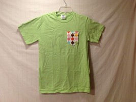 NEW Indigo Cotton Lime Green T-Shirt Size Small