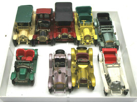 9pc 1960s Matchbox Models of Yesteryear Diecast Cars Mercor, Cadillac Re... - $69.93