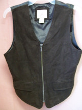 REDUCED Suede Leather Zip Up Vest size M - $15.00