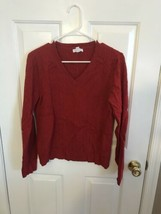 Charter Club Womens V Neck Cable Knit Sweater Large - $3.00
