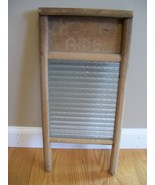 Vintage Home Aide wood and glass washboard. Columbus Washboard Co. - Ohio. - $15.00