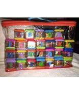 Fisher-Price Alphabet Peek-A-Blocks Complete Set of 26 w/Original Carrying Bag