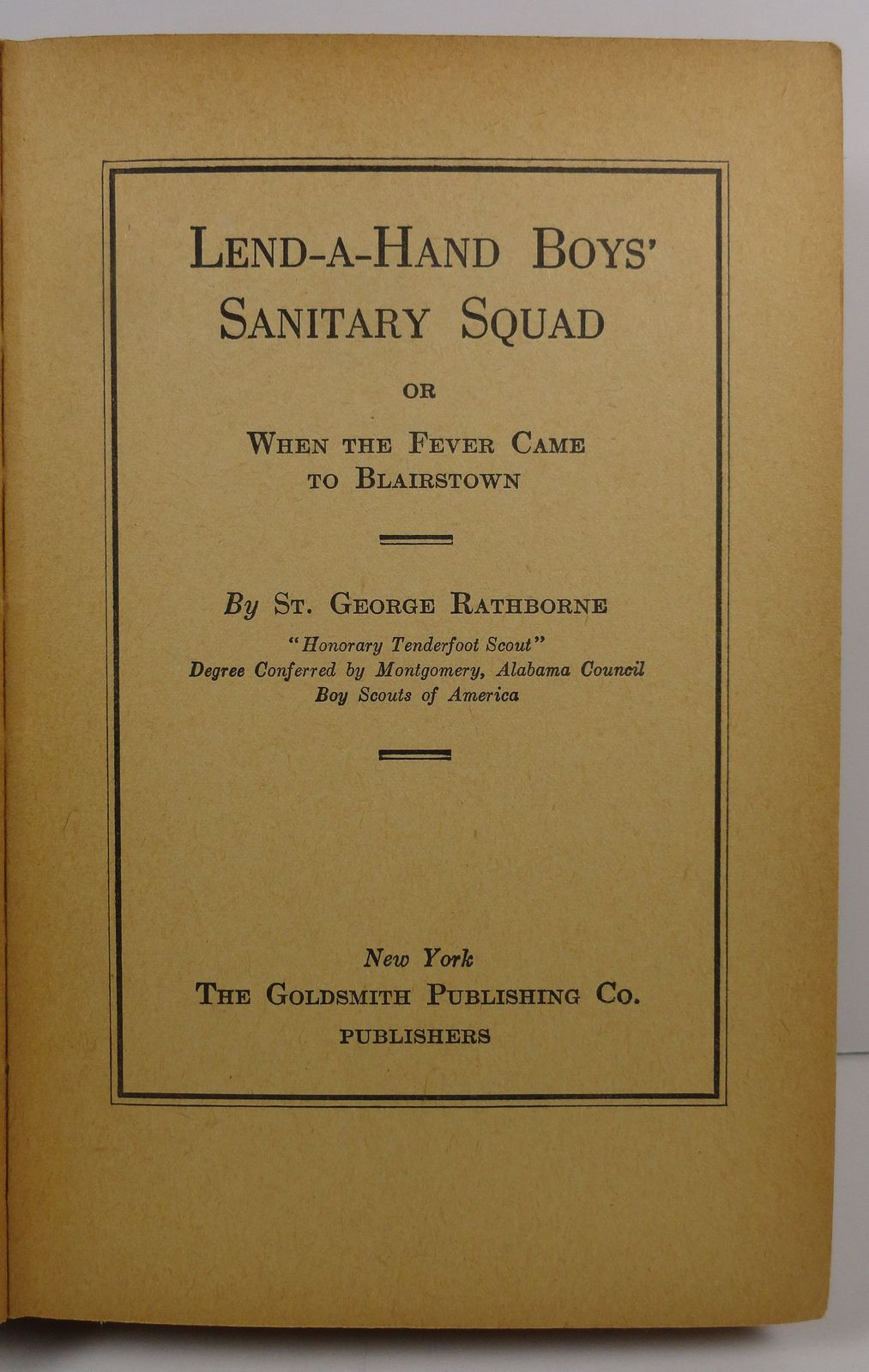 The Lend a Hand Boys Sanitary Squad by St. George Rathborne