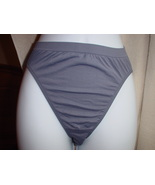 Victorias Secret High Cut Brief Small Dark Gray NWOT - $13.99