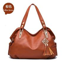 Mixed 6 Color Women Handbags Leather Large Shoulder Bags New Purse H114-9 - $39.99