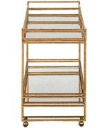 Bar Cart CURREY & COMPANY ODEON Seneca Gold Leaf Light - $2,740.00