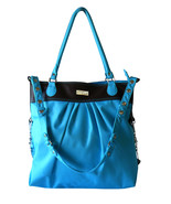 Hadaki Tote Around Pod Turquoise Shopper Tote C... - $19.00