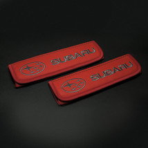 Subaru seat belt covers Leather shoulder pads Interior Accessories with emblem - $35.00