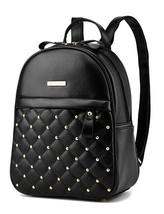 5 Color Girl's School Backpacks Rivets Leather Bookbags Medium Backpacks... - $37.99