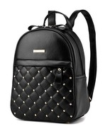 5 Color Girl's School Backpacks Rivets Leather Bookbags Medium Backpacks... - £29.05 GBP