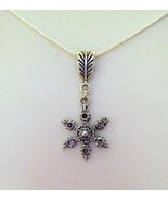 Simple Single Snowflake Charm Necklace 22 Inches Long - $9.99
