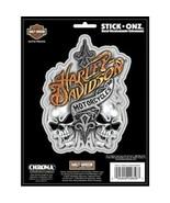 """6"""" HARLEY DAVIDSON TEXT WITH SKULLS STICK ONZ STICKER DECAL - $18.99"""