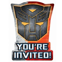 Transformers Dark of the Moon Save The Date Invitations 8 Ct Birthday Pa... - $3.22