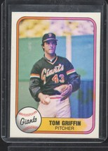1981 Fleer #456 Tom Griffin Print Error  - $40.00