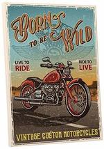 "Pingo World 0725QR3N484 ""Born to Be Wild Motorcycle"" Gallery Wrapped Canvas Wall - $138.55"