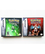 Pokemon Moemon Emerald + Fire Red GBA Gameboy Advance Custom Fan Made Ha... - $43.70