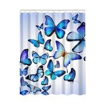 1PCS Waterproof Fabric Colorful  Pattern Butterfly Women Body Bathroom Shower Cu - $26.91