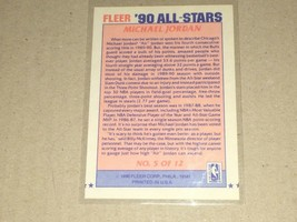 1990 FLEER ALL-STARS MICHAEL JORDAN #5 OF 12 image 2